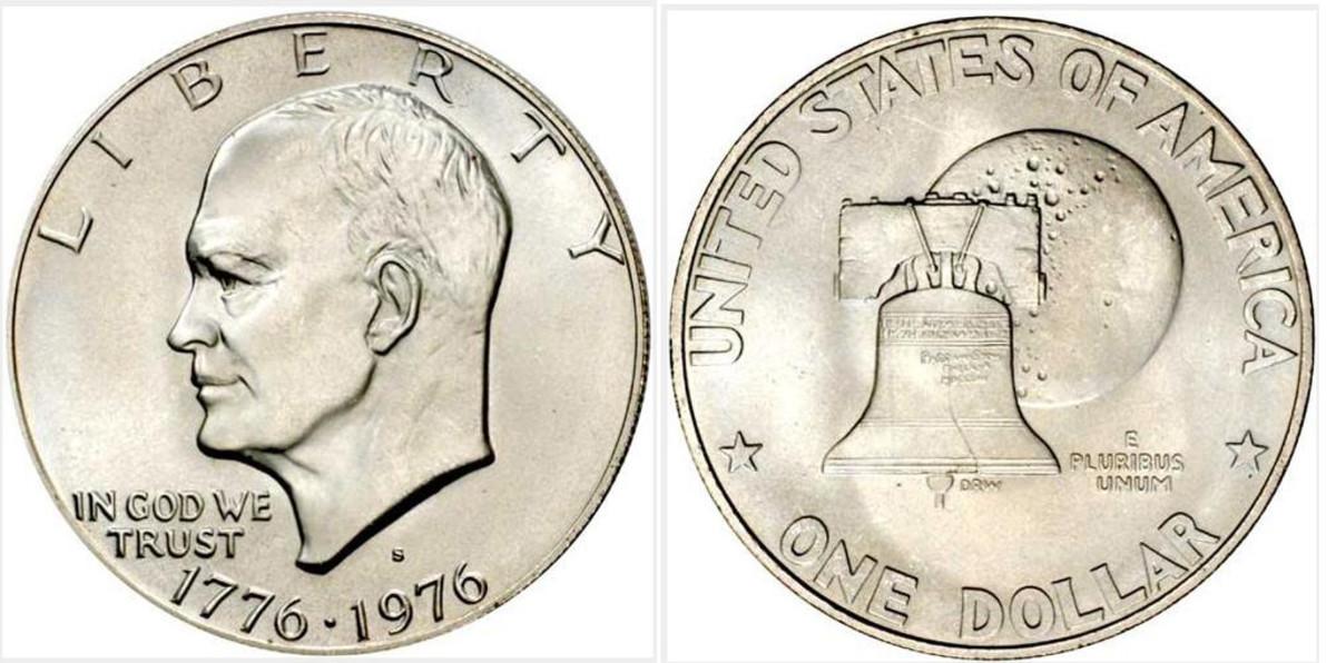 1776-1976 Bicentennial Silver-Clad Eisenhower dollar