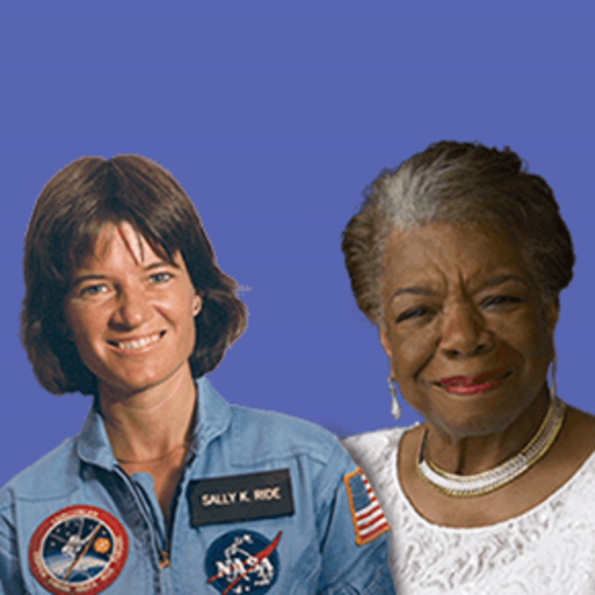 Dr. Sally Ride (left) and Maya Angelou. (Image courtesy U.S. Mint.)