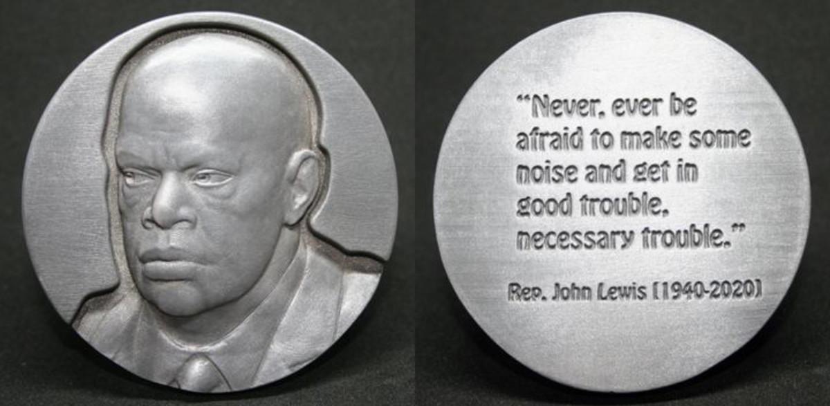 John Lewis medal by Jim Licaretz.