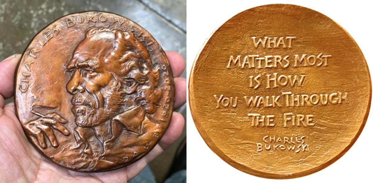 Charles Bukowski medal by Eugene Daub.