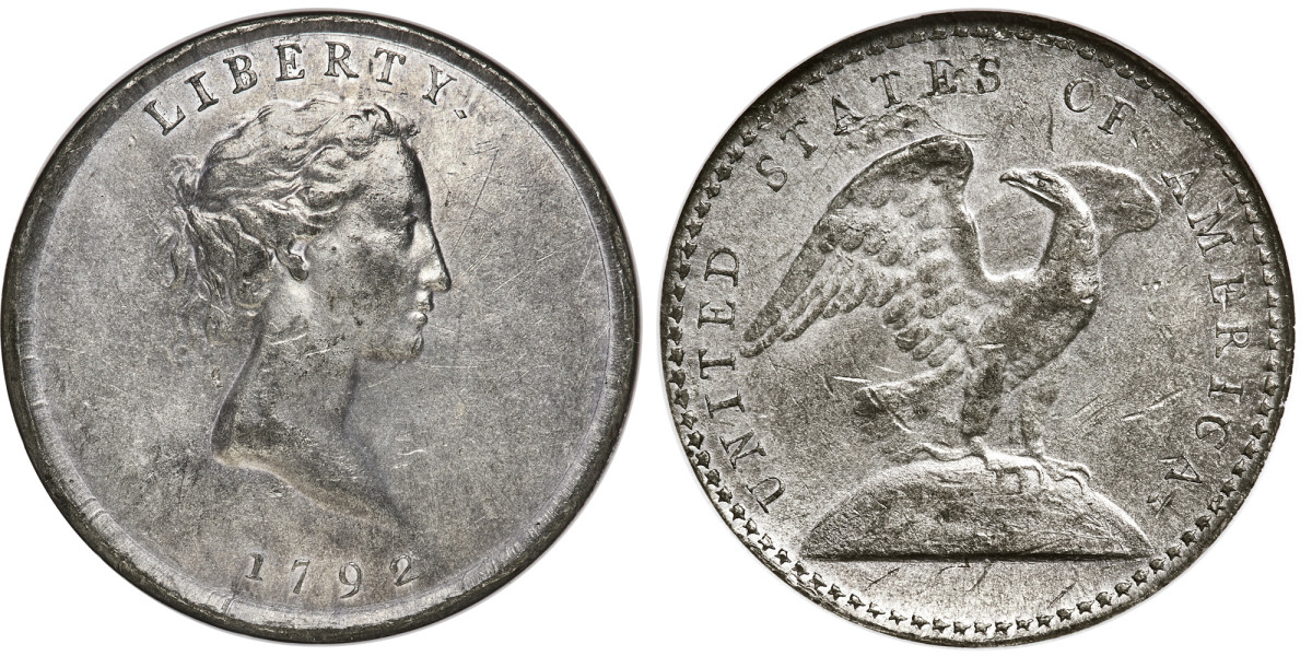 1792 quarter, one of four known. (Images courtesy Heritage Auctions, HA.com.)