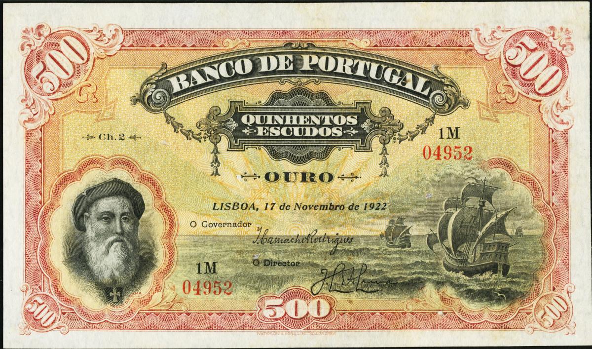 Portugal Banco de Portugal 500 Escudos