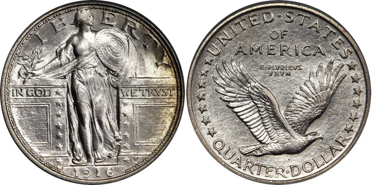 A 1916 Standing Liberty quarter (Courtesy of Stack's-Bowers)