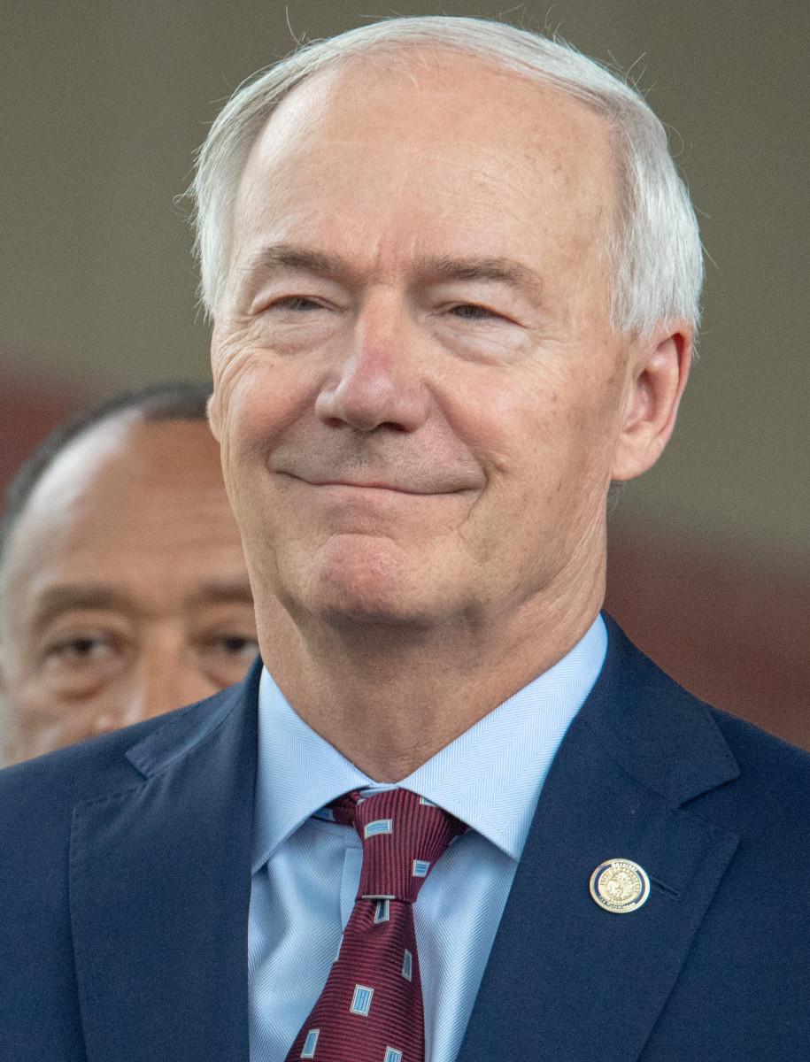 Arkansas Governor Asa Hutchinson. (Photo courtesy Shane T. McCoy / US Marshals, via Wikipedia.org.)