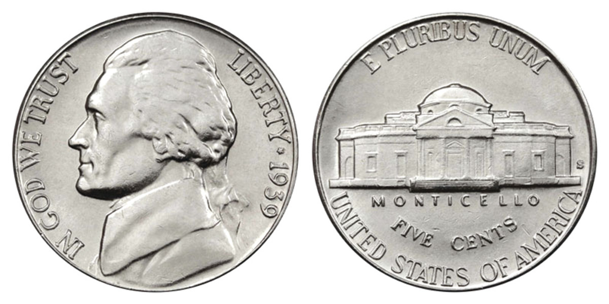 1939-S Jefferson nickel. (Images courtesy usacoinbook.com.)