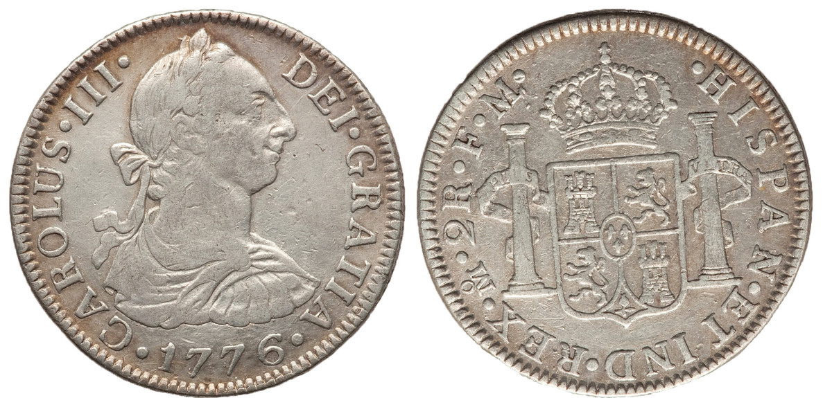 A 1776 Mexico 2 reales (Heritage Auctions)