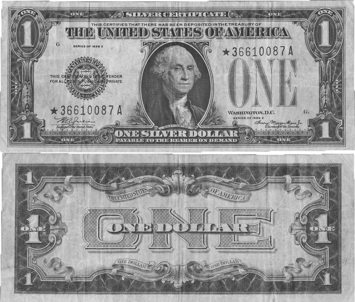 1928E star $1 silver certificate (Image courtesy of Heritage Auctions).
