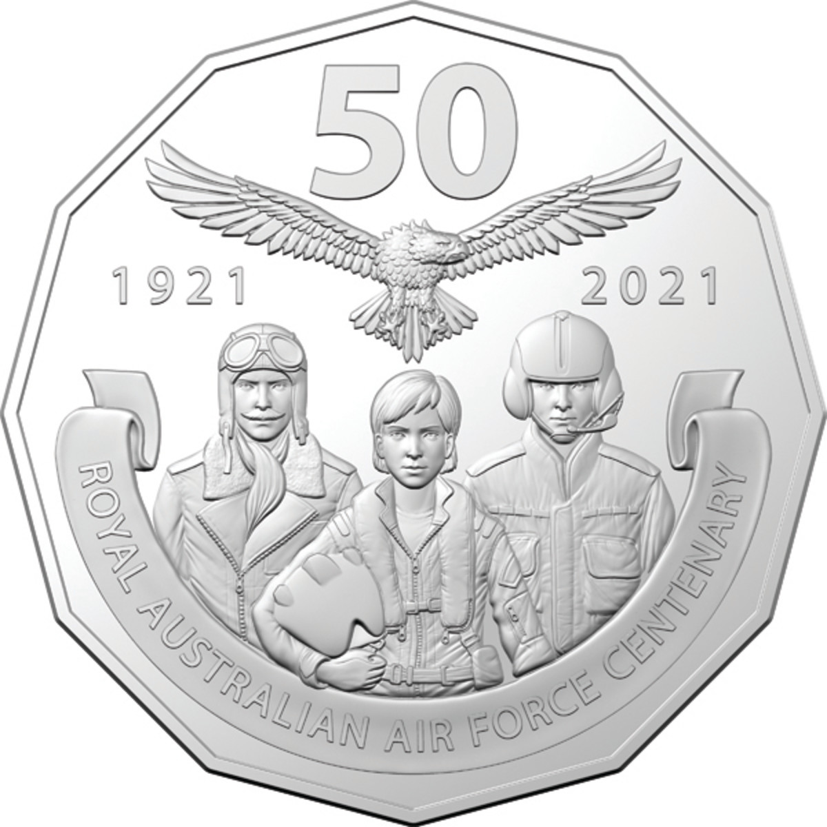 The Centenary 1921-2021 coin in this set offers a classic design made to honor those who have served in the RAAF.