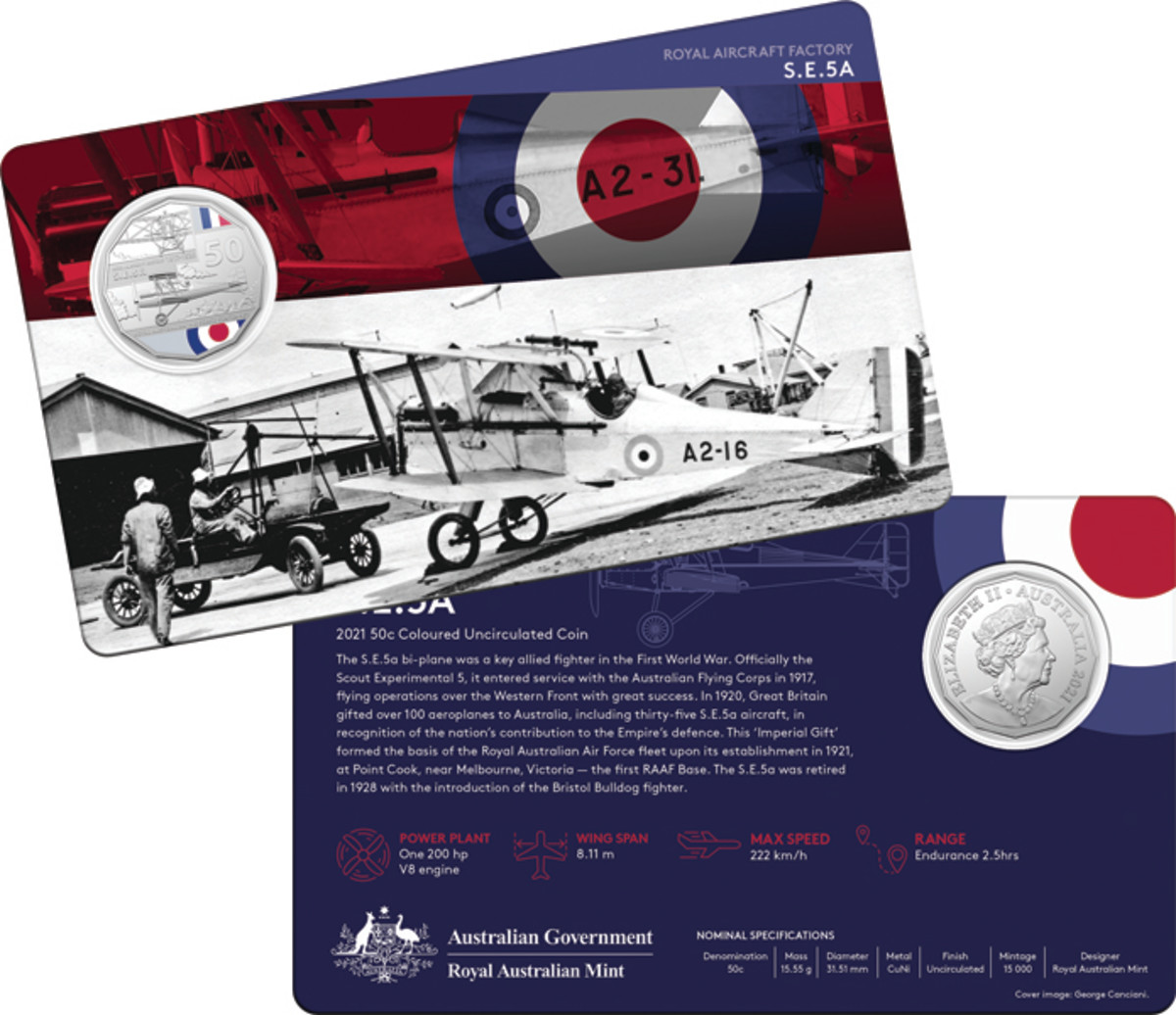 """The Scout Experimental 5 or """"S.E. 5a"""" was the first bi-plane to be used by the Australian Flying Corps in 1917. This plane was a key allied fighter in World War I."""