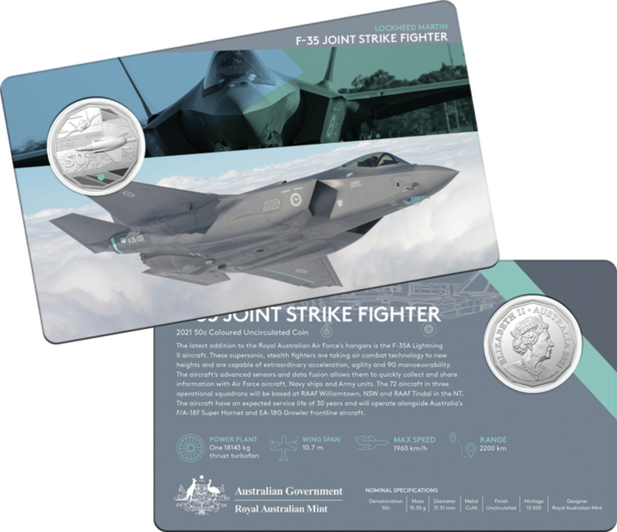 The RAAF's latest supersonic, stealth fighter, the F-35A Lightning II aircraft is expected to remain in service for 30 years. It can fly at 1,960 kilometers an hour and sports 9G maneuverability.