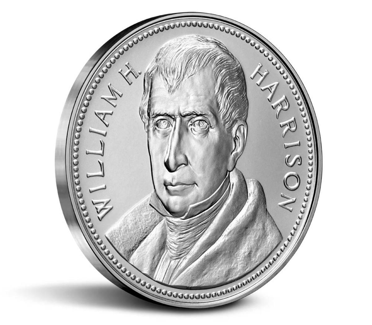 William H. Harrison Presidential medal. (Image courtesy U.S. Mint.)