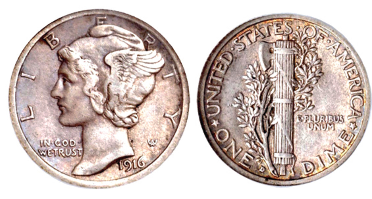 The rare 1916-D dime.