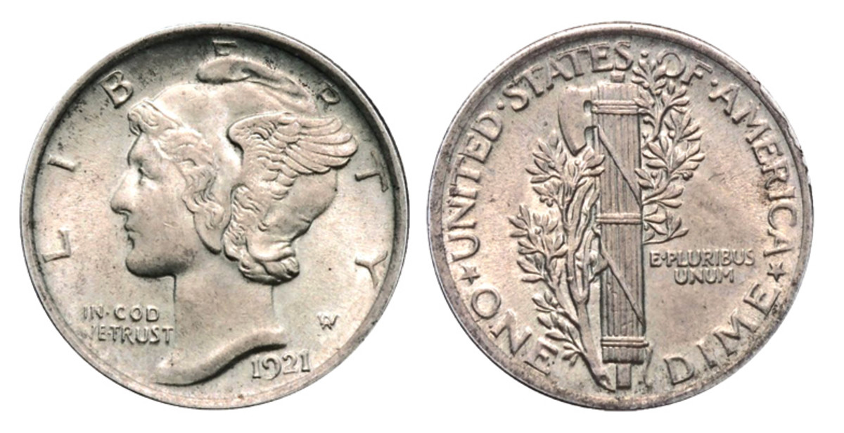 1921 has long been known as a scarce date in the Mercury dime series.