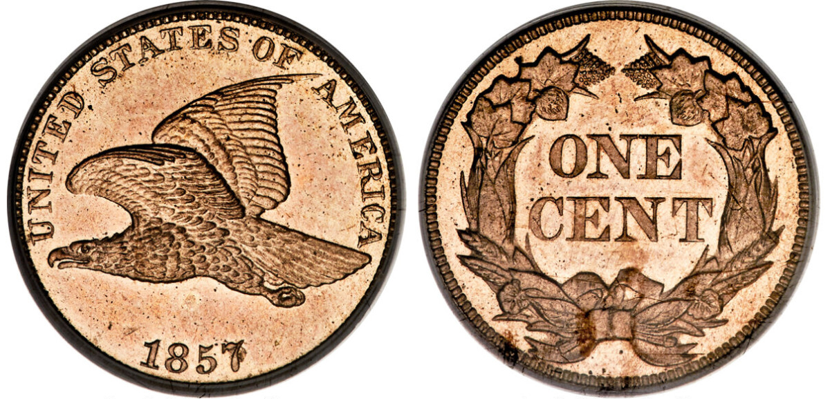 1857 Flying Eagle cent (All images courtesy of Heritage Auctions)