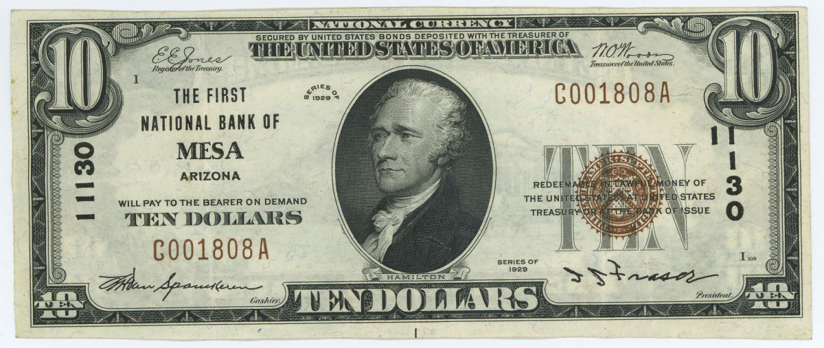 This Mesa note has a very common BBS overprint.