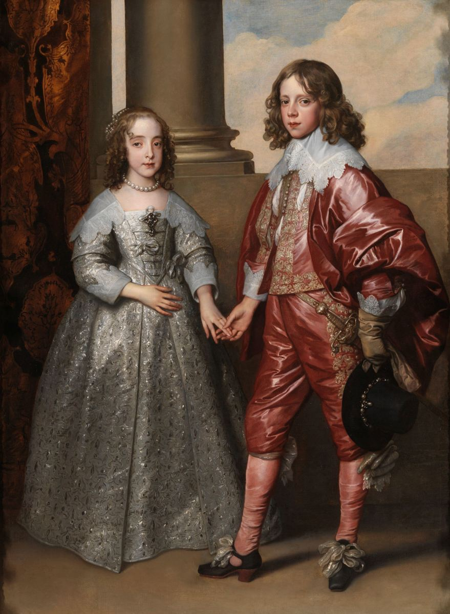 William II of Orange and his bride Mary Stuart, daughter of the executed King Charles I of England. Painting by Anthonis van Dyck. Rijksmuseum Amsterdam.))