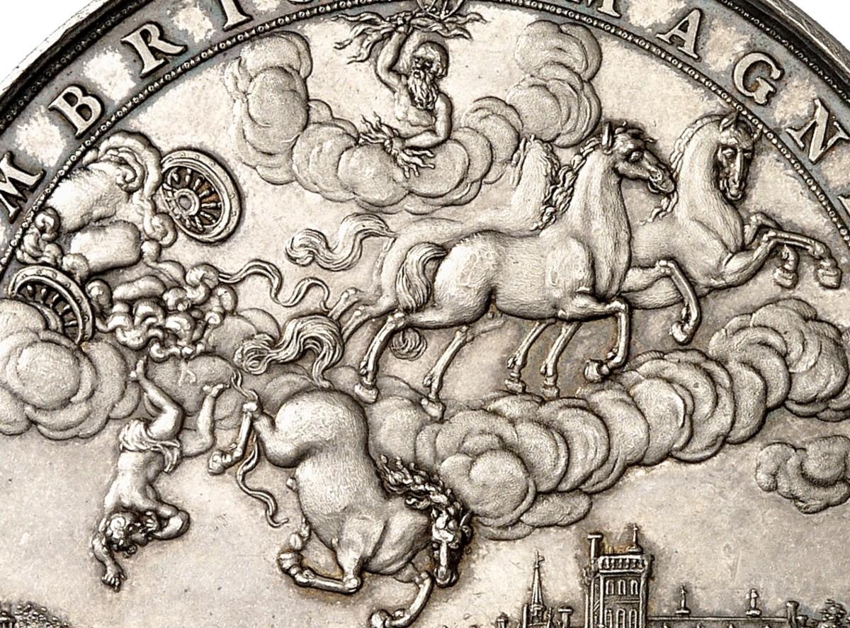 Detail of Sebastian Dadler's medal commemorating the death of William II.