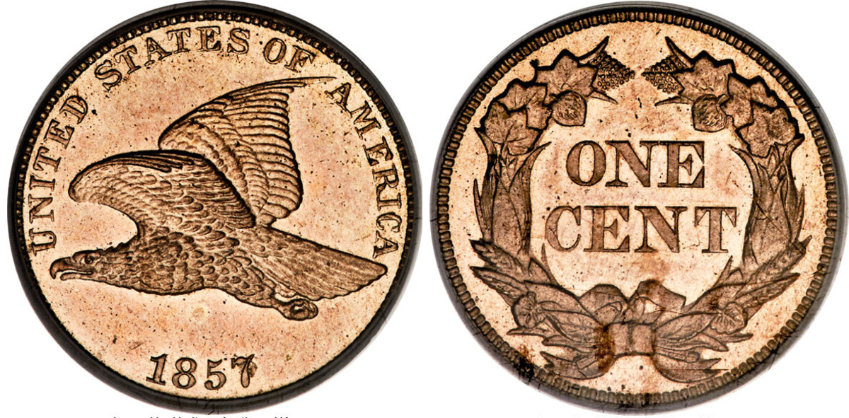 1857 Flying Eagle cent (Images courtesy of Heritage Auctions)