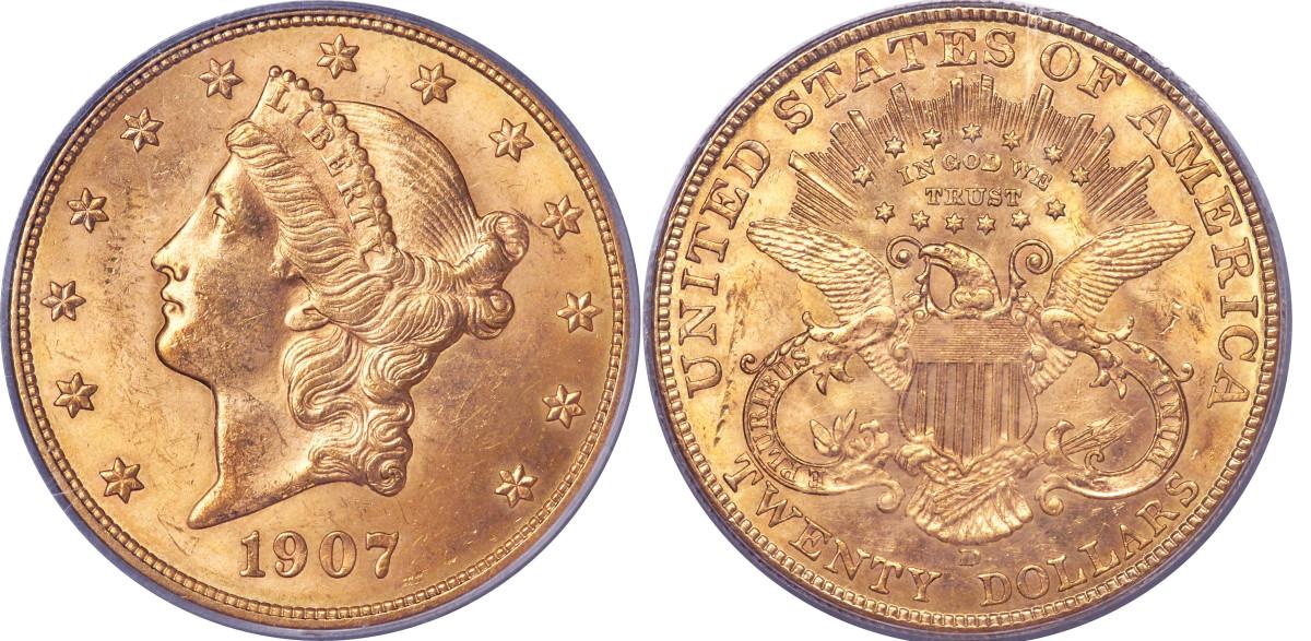 1907 Liberty Head double eagle.