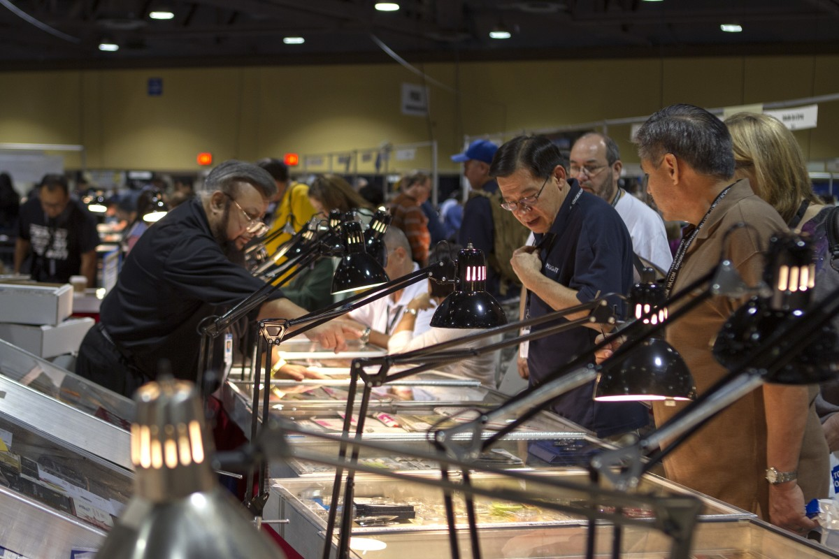 On the bourse at the Long Beach Expo. (Image courtesy Professional Coin Grading Service.)