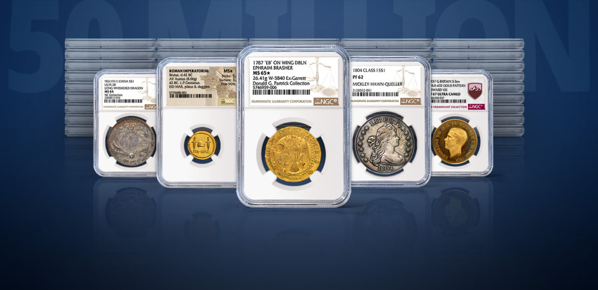 """""""These are some of the highlights among the 50 million coins, tokens and medals certified by NGC. To see NGC's full list of 50 amazing coins, token and medals, click here."""