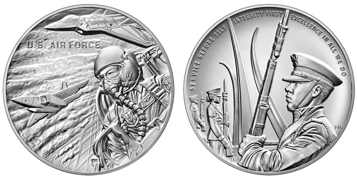 U.S. Air Force silver medal. (Images courtesy United States Mint.)