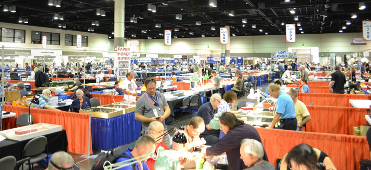 Attendees of the 15th Annual Summer FUN Convention in Orlando had a record 282 dealer booths to peruse on the bourse. Photo is of the 2020 January FUN bourse. (All images courtesy Florida United Numismatists.)