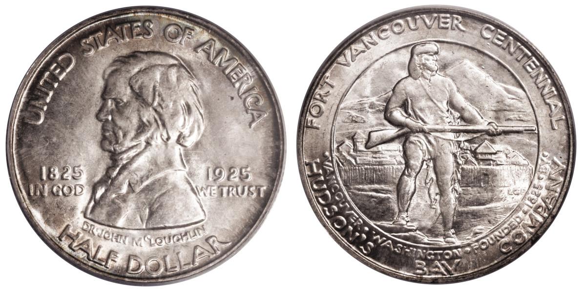1925 Fort Vancouver half dollar.