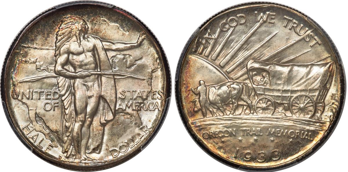 1933-D Oregon Trail half dollar.