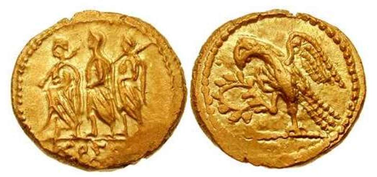 Gold coins of Koson similar to this example have been seized in Romania as having been looted from archaeological sites.