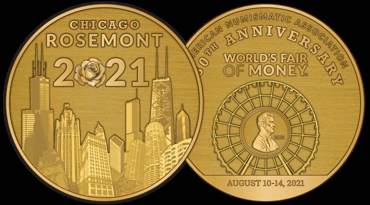 2021 Chicago World's Fair of Money bronze medal. (Image courtesy American Numismatic Association.)