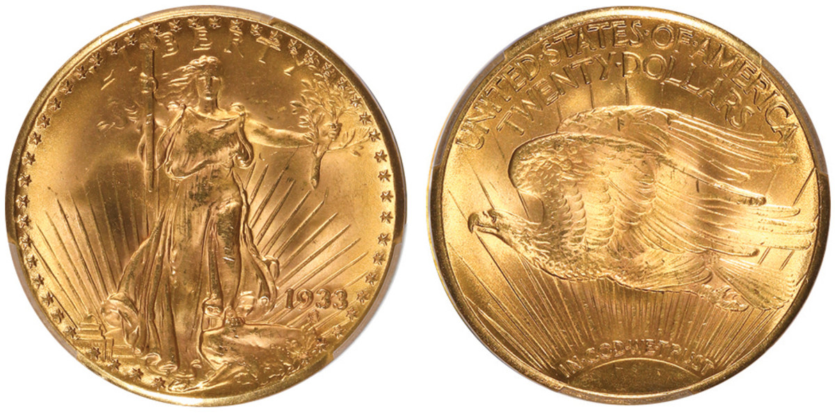 The only 1933 double eagle legal to own – and the world's most valuable coin – will be displayed at the 2021 ANA World's Fair of Money in Chicago. (Images courtesy Professional Coin Grading Service.)