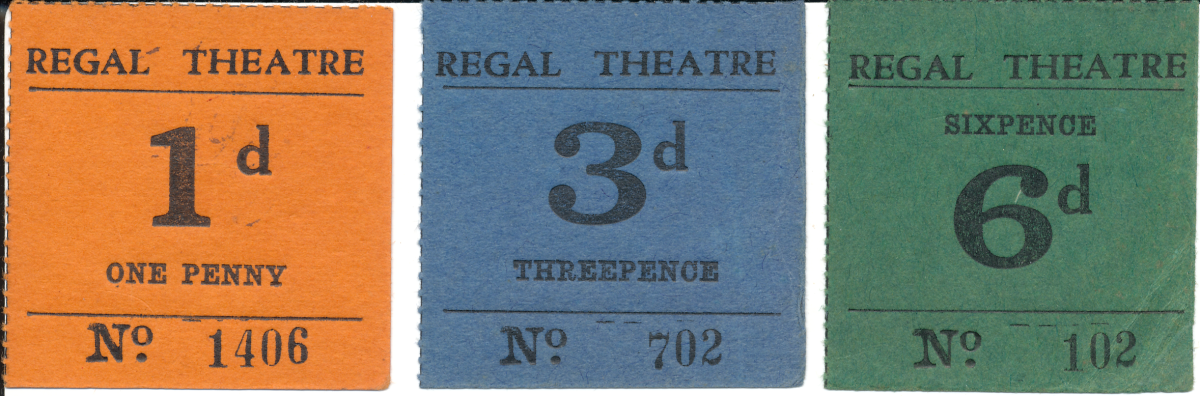 Dr. Rodgers' favorite collecting area, the illicit card small change tokens issued by hotels & merchants in World War II Fiji; shown is one of the few complete sets of the Regal Theatre issues (NIP). Image © Ω Collection 2021.