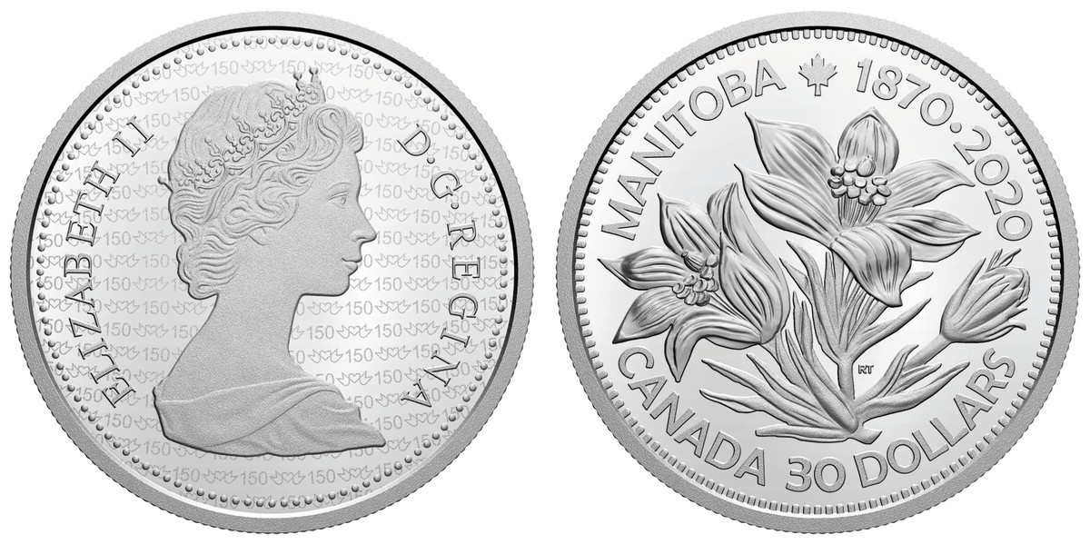 Honoring Manitoba's past and looking towards its future, this $30 silver proof from the Royal Canadian Mint serves as both a keepsake for and commitment to Canada's fifth province.