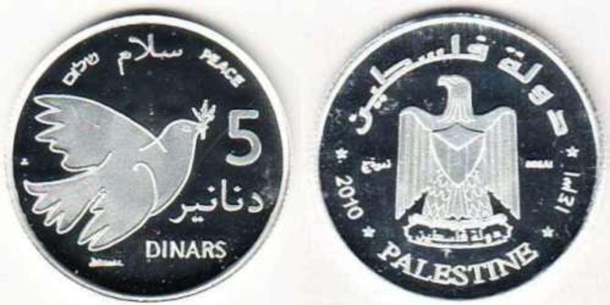 Palestine Monetary Authority is considering a digital currency. The coin depicted here is unauthorized.