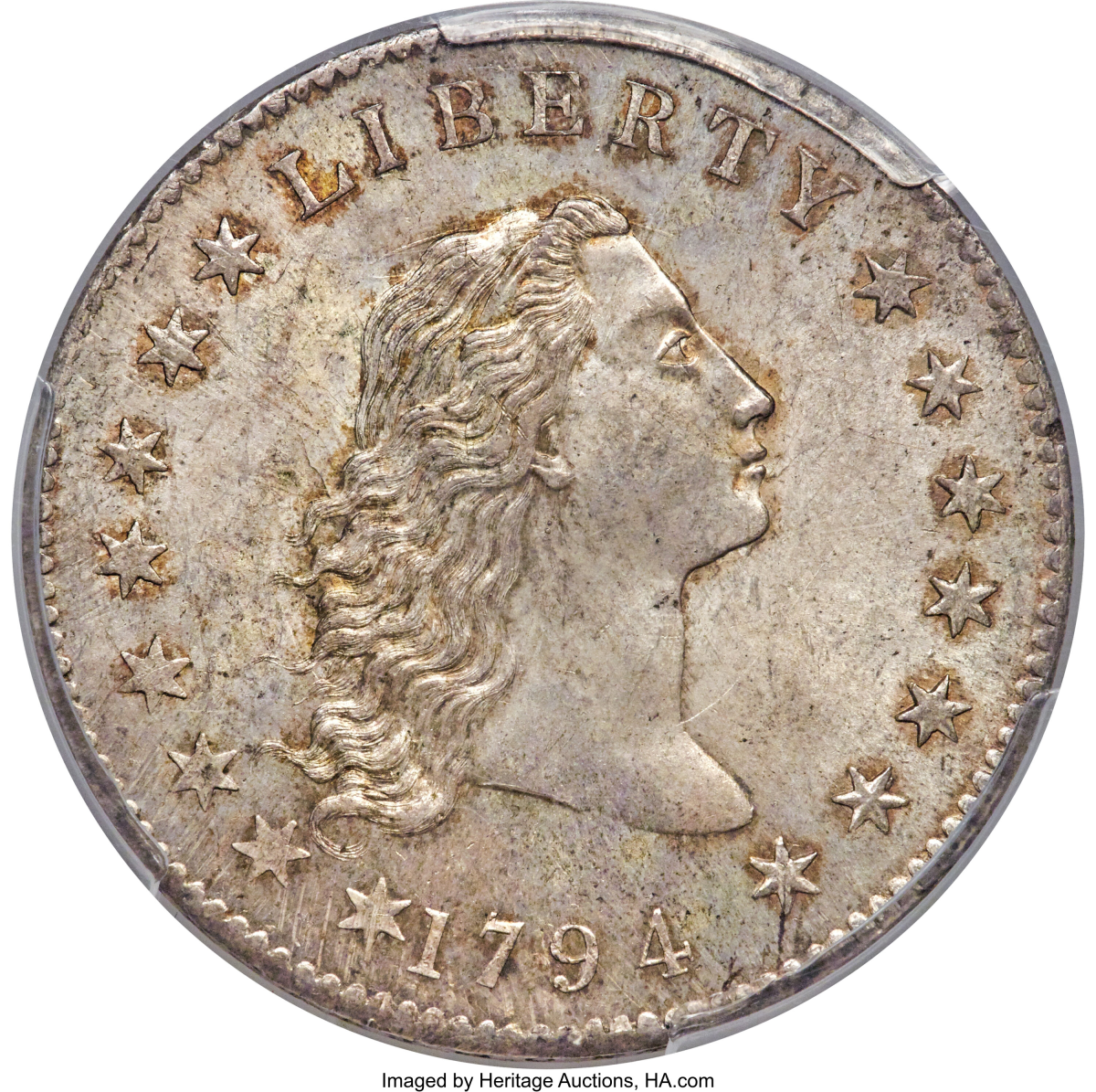 1794 Flowing Hair Silver Dollar, MS66+_Heritage_Auctions