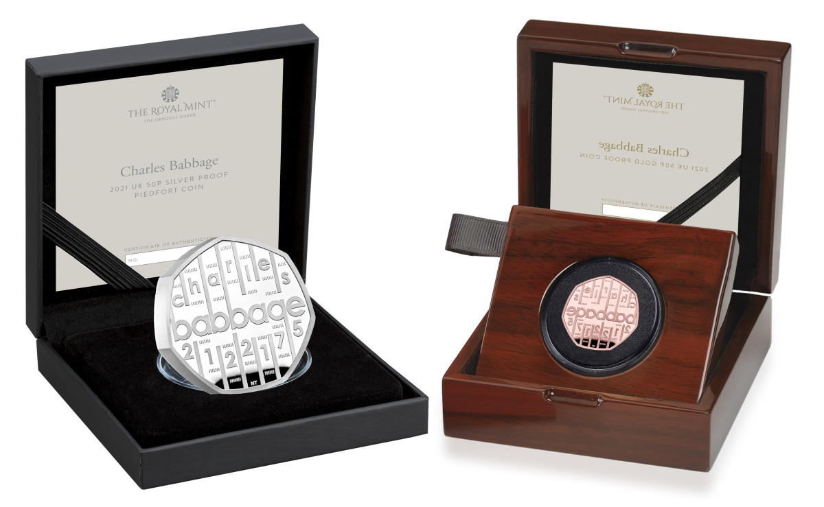 The proof silver and proof silver piedfort coins come in plush black cases, while the proof gold strike features a rosewood display case.