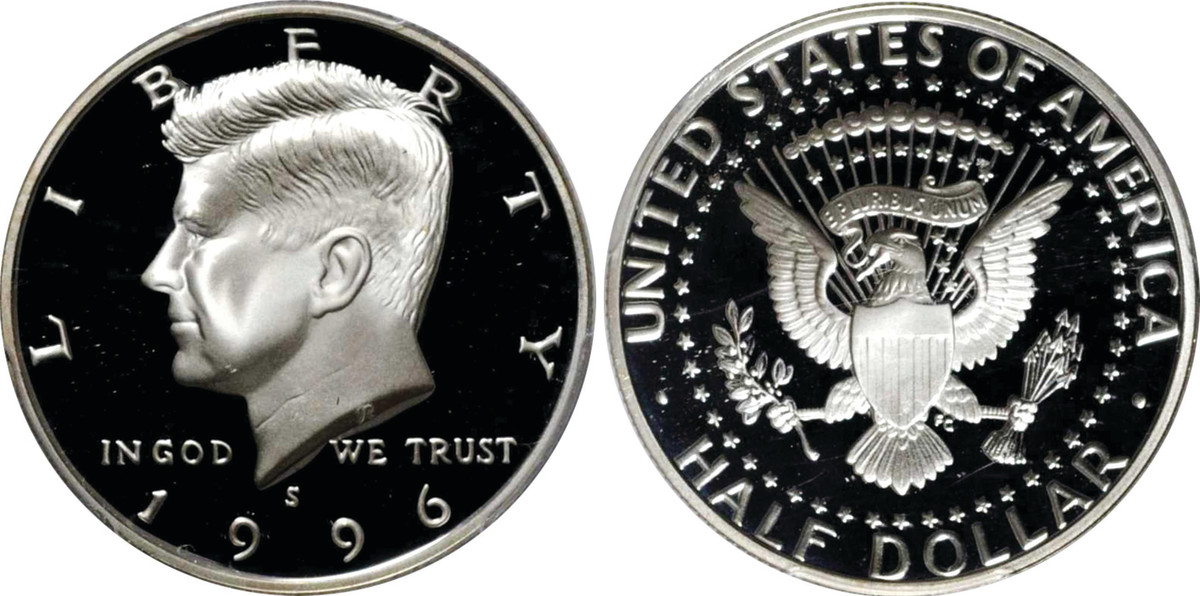 1996-S Kennedy half dollar. (Images courtesy of Stack's Bowers)