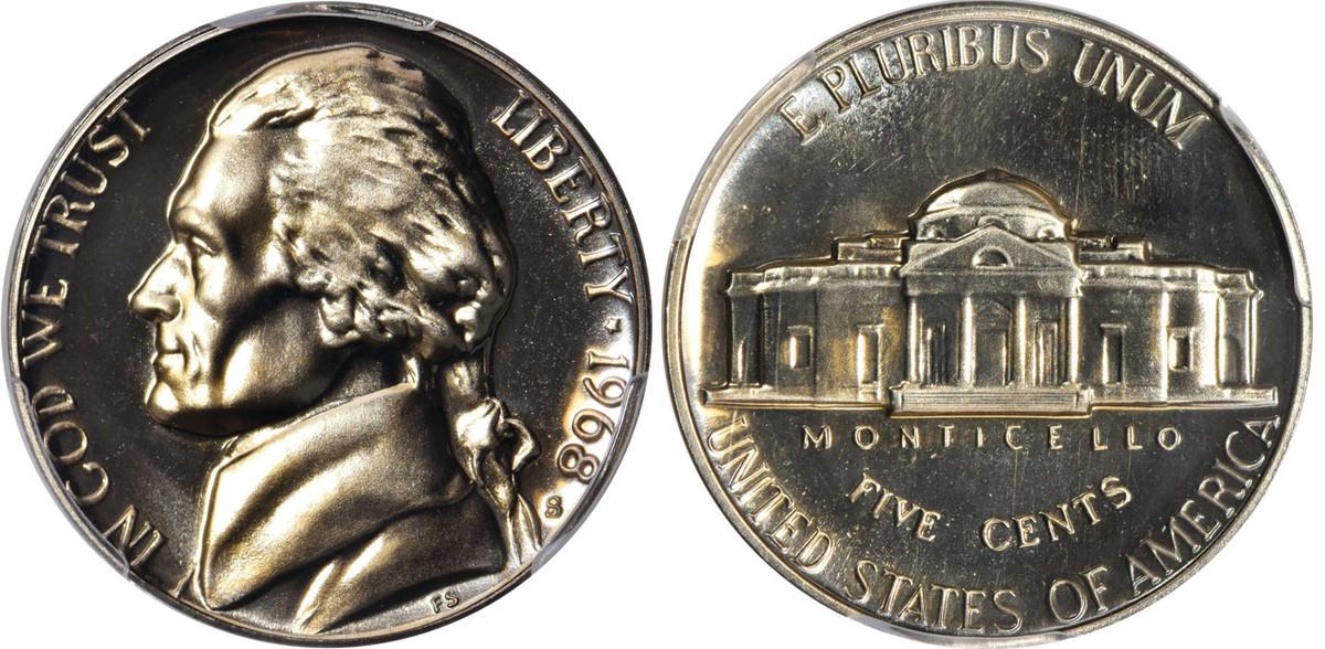 1968 Jefferson nickel.